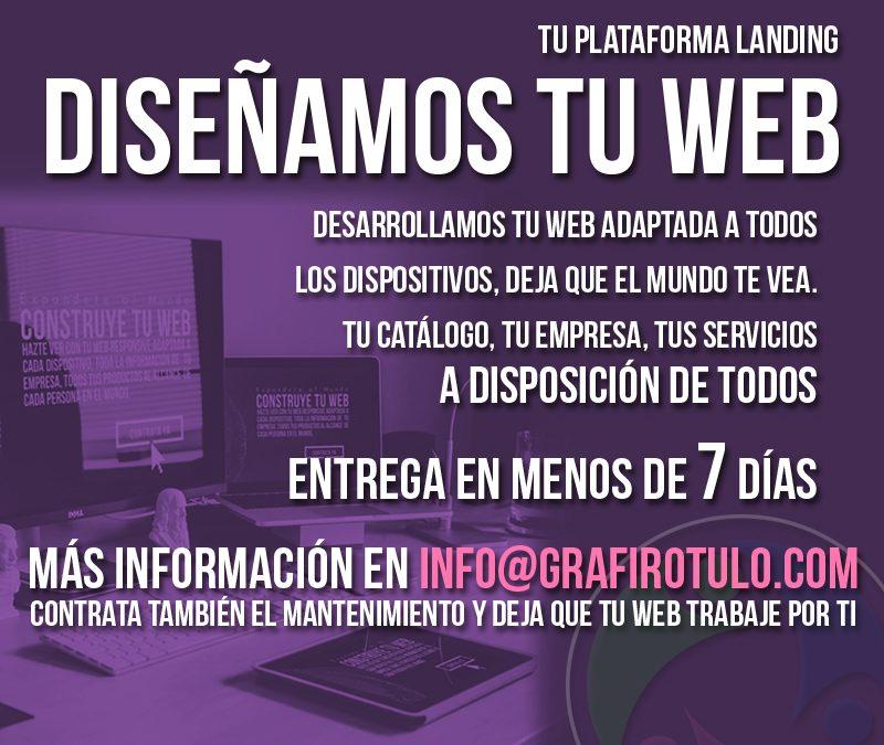 ¡Diseña tu página web con nosotros, es más fácil!