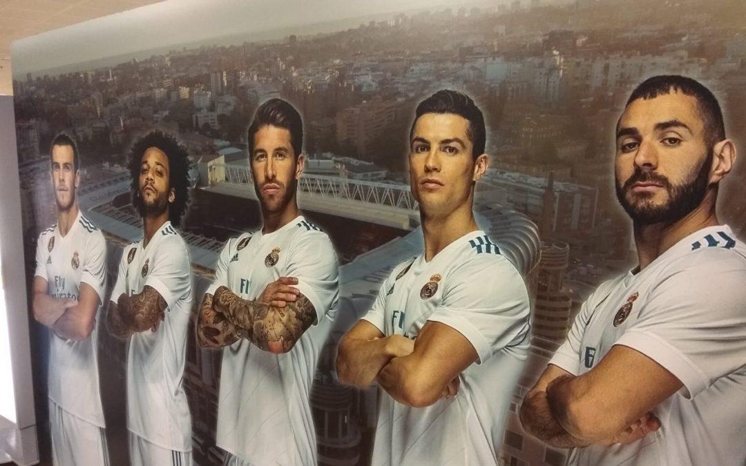Magnífico Stand Portátil para el Real Madrid.